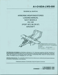 North American Aviation  / Rockwell  / OV-10 D  Aircraft Airborne Weapons / Stores Loading Manual - NAVAIR A1-010DA-LWS-000