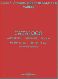 Nieuport Macchi  11 -17 Aircraft Illustrated Part Catalog  Manual - Nomenclatore ( Italian Language)