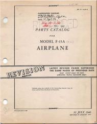 Northrop F-15 A ( P-61  ) Aircraft Parts Catalog  Manual - 01-15JA-4-  1946