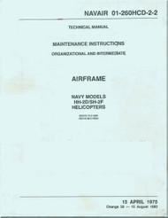 KAMAN HH-2D, SH-2F  Helicopter Maintenance  Airframe Manual NAVAIR 01-260HCD-2-2