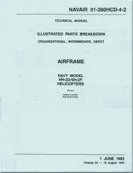 KAMAN HH-2D, SH-2F  Helicopter Illustrated Parts Breakdown   Airframe Manual NAVAIR 01-260HCD-4-2