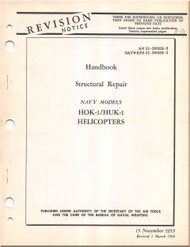 KAMAN HOK -1, HUK-1 Helicopter Structural Repair  Manual  AN  01-260HB-3