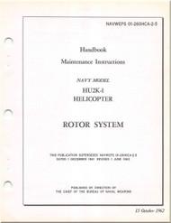 KAMAN HU2K-1 Helicopter Maintenance  Manual -  Rotor System  - NAVWEPS 01-2600HCA-2-5 , 1962