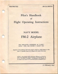 Grumman  FM-2 Aircraft Flight Manual - 01-190FB-1 - 1945