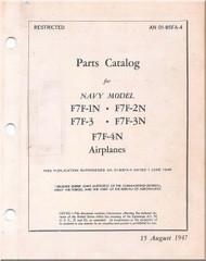 Grumman F7F-1N, 2N, -3, -3N  Aircraft Parts Catalog  Manual - 01-85FA-4 - 1947