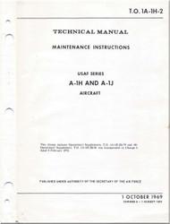 Mc Donnell Douglas A-1 H , J Aircraft Maintenance Manual - 1A-1H-2- 1969