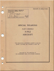 Mc Donnell Douglas A-1 H , J Aircraft Special Weapon Manual - 01-40ALF-503 -