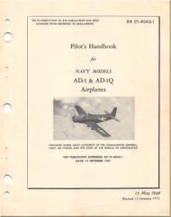 Mc Donnell Douglas AD-1 & AD-Q Aircraft Flight Handbook Manual - 01-40AQ-1 - 1948