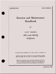 Mc Donnell Douglas AD-1 & AD-Q Aircraft Maintenance Manual - 01-40AQ-2 - 1949