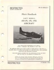 Mc Donnell Douglas AD-3N, -4N, -4L Aircraft Flight Handbook Manual - 01-40ALD-1 - 1952