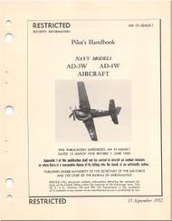 Mc Donnell Douglas AD-3W -4W Aircraft Flight Handbook Manual - 01-40ALB-1 - 1952