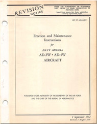 Mc Donnell Douglas AD-3W -4W Aircraft Maintenance Manual - 01-40ALB-2 - 1952