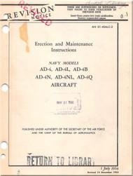 Mc Donnell Douglas AD-4, -4L, -4B, -4N, -4NL, -4Q, Aircraft Maintenance Manual - 01-40ALC-2 - 1954