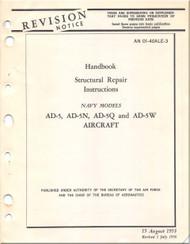 Mc Donnell Douglas AD-5, -5N, -5Q, -5W Aircraft Structural Repair Manual - AN 01-40AL-3 - 1953
