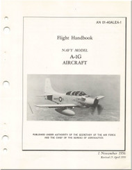 Mc Donnell Douglas A-1 G Aircraft Flight Manual - 01-40ALEA-1- 1956