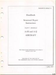 Mc Donnell Douglas A-1 H , J Aircraft Structural Repair Manual - 01-40ALF-3- 1967