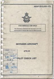 Mc Donnell Douglas A-4 K  / TA-4 K Aircraft Pilot's Checklist - Normal   Manual  NZAP 6213.005-1CL