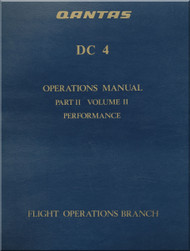 Douglas DC-4 Aircraft Operations Manual - Part II Volume II - Performance - QANTAS