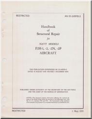 Mc Donnell Douglas F2H- 1, -2, -2N, -2P Aircraft Structural Repair Manual - 01-245FB-3 -1951