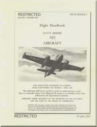 North American Aviation AJ-1 Aircraft Flight Handbook Manual - AN 01-460AAA-1, 1953