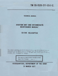 Sikorsky S-64 CH-54 Helicopter Maintenance Manual 55-1520-217-23-2