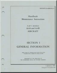 Mc Donnell Douglas A-4 A,B Aircraft Maintenance Instructions Manual- General Information - 01-40AVA-2-1- 1969