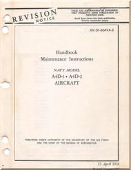 Mc Donnell Douglas A-4 D-1, D-2 Aircraft Maintenance Instructions Manual - 01-40AVA -2 - 1957