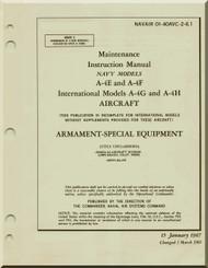 Mc Donnell Douglas A-4 E, D, G, H Aircraft Maintenance Instructions Manual - Armament Special Equipment -01-40AVA -2 -6.1 - 1969
