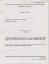 Boeing B-52 H Aircraft Electronic Communication Systems Manual -  T.O. 1B-52H-2-24GA-1   -1982