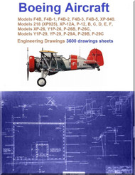 Boeing F4B / P-12, P-26, P-29 Airplane Aircraft Engineering Drawings Blueprints on DVD or Download