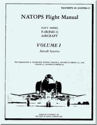 Mc Donnell Douglas F-4B ( F4H-1 ) Aircraft Flight Manual V.1 - Aircraft Systems - NAWEPS 01-245FDB-1.1 -1962