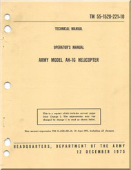 Bell Helicopter AH-1 G Operator's Manual - TM 55-1520-221-10-1975