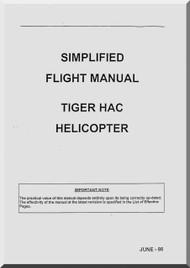 Eurocopter EC 665 Tiger Helicopter Simplifield Flight  Manual - HAC
