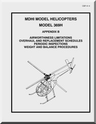 Mc Donnell Douglas  Helicopters  Model  369 H Airworthiness limitations Overhaul and Replacement Schedules Periodic Inspections Weight and Balance Procedures   Manual