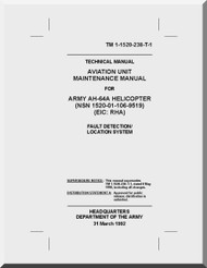 Boeing  Helicopter AH-64 A  Aviation Unit Maintenance  Manual  -1992, TM 1-1520-238-T-1