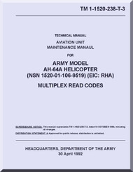 Boeing  Helicopter AH-64 A  Aviation Unit Maintenance  Manual  -1992, TM 1-1520-238-T-3