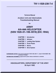 Boeing  Helicopter AH-64 A  Aviation Unit Maintenance  Manual  -1992, TM 1-1520-238-T-4
