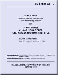 Boeing  Helicopter AH-64 A  Aviation Unit Maintenance  Manual  -1992, TM 1-1520-238-T-7