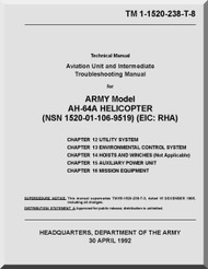 Boeing Helicopter AH-64 A Aviation Unit Maintenance Manual -1992, TM 1-1520-238-T-8
