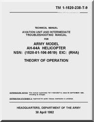 Boeing Helicopter AH-64 A Aviation Unit Maintenance Manual -1992, TM 1-1520-238-T-9