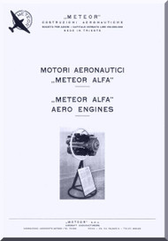 Alfa Romeo Meteor Alfa Aircraft Engine Instruction Manual  ( Italian English Language ) - 1960