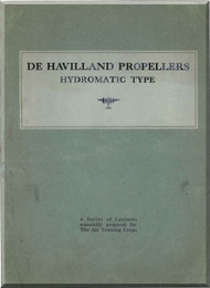 De Havilland Aircraft Propellers Hydromantic Type Manual