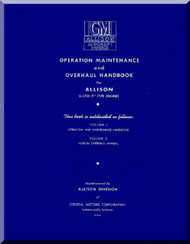 Allison V-1710 F  Aircraft Engine Operation, Maintenance, Overhaul  Manual  ( English Language )