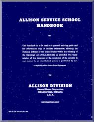 Allison V-1710 F  Aircraft Engine  Service School  Manual  ( English Language )