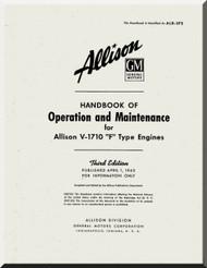 Allison V-1710 F Aircraft Engine Operation and Maintenance Manual
