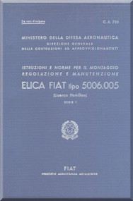FIAT 5006.005 Aircraft Propeller Maintenance Manual - Elica - Montaggio