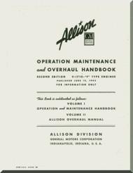 Allison V-1710 F Aircraft Engine Operator Maintenance Overhaul Manual - 1942