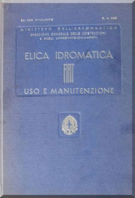 FIAT Aircraft Hydromantic Propeller Maintenance Manual - Elica - Montaggio