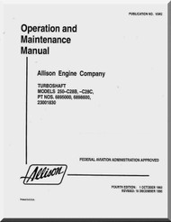 Allison 250 -C28 B , C Operation and Maintenenace Manual  ( English Language )-
