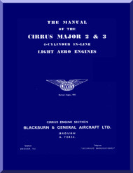 Cirrus Major 2 & 3 Aircraft Engine Service Manual  ( English Language )